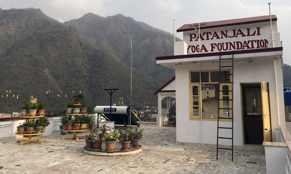 Top view at Patajali teacher training School Rishikesh India