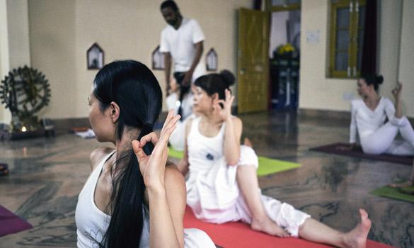 Yoga Class at Yoga School Rishikesh