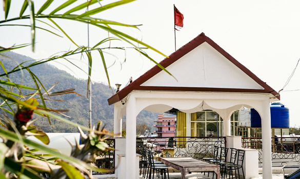 Outdoor View at leading yoga school Rishikesh