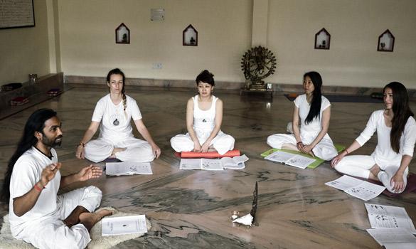 Teacher training class view at patanjali Rishikesh